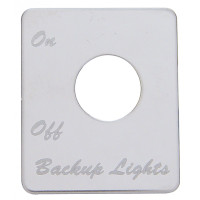 Peterbilt Stainless Steel Backup Light Switch Plate