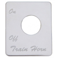 Peterbilt Stainless Steel Train Horn Switch Plate By Grand General