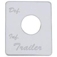 Peterbilt Stainless Steel Trailer Air Suspension Switch Plate