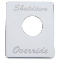 Peterbilt Stainless Steel Shutdown Override Switch Plate