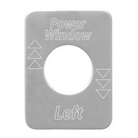 Peterbilt Stainless Steel Power Window Switch Plate