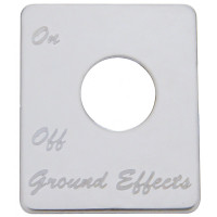 Peterbilt Stainless Steel Ground Effects Switch Plate