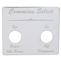 Peterbilt Stainless Steel Cummins Select Switch Plate