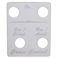 Peterbilt Stainless Steel Cruise Control 4 Switch Plate