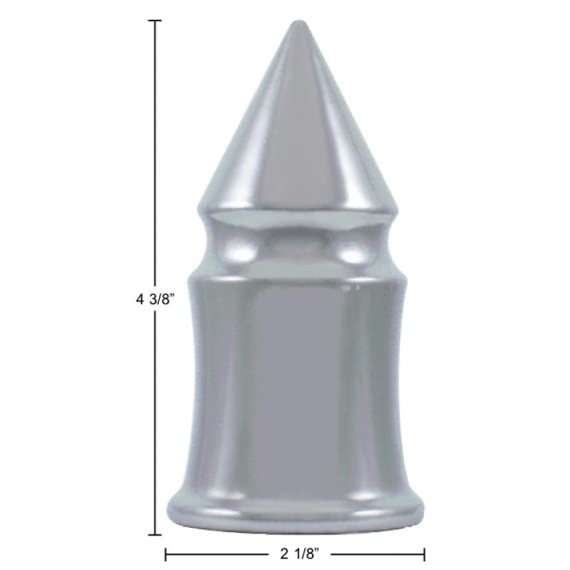 Chrome V Spike Push On Lug Nut Covers