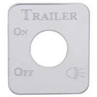 Kenworth Stainless Steel Trailer Light Switch Plate