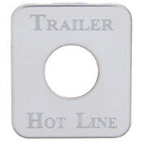 Kenworth Stainless Steel Trailer Hot Line Switch Plate