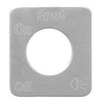 Kenworth Stainless Steel Spot Light Switch Plate By Grand General