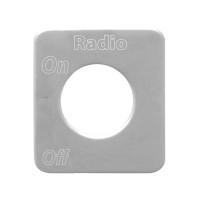 Kenworth Stainless Steel Radio Switch Plate