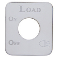 Kenworth Stainless Steel Load Light Switch Plate