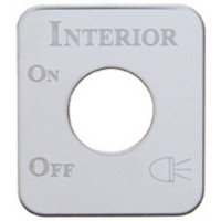 Kenworth Stainless Steel Interior Light Switch Plate