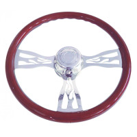 "18"" Flame Steering Wheel"