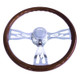 """Freightliner 18"""" Flame Steering Wheel"""