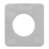 Kenworth Stainless Steel Dome Floor Light Switch Plate