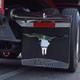 Chrome Longhorn Skull Cutout On Truck