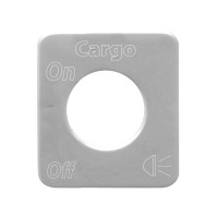 Kenworth Stainless Steel Cargo Light Switch Plate