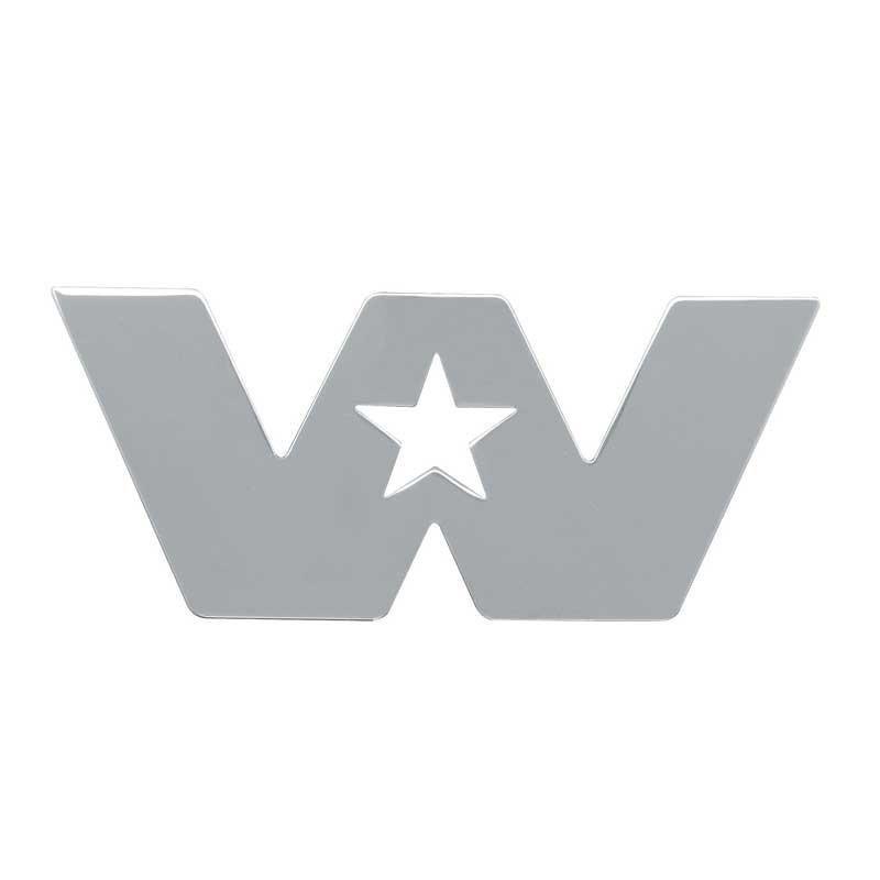 Chrome Western Star Cutout Small
