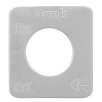 Kenworth Stainless Steel Bunk Light Switch Plate By Grand General