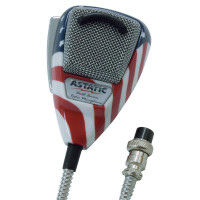 Astatic 636L Noise Canceling Stars N' Stripes CB Microphone Right