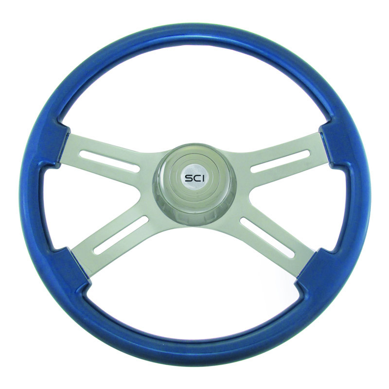 "Classic Blue 18"" Steering Wheel"