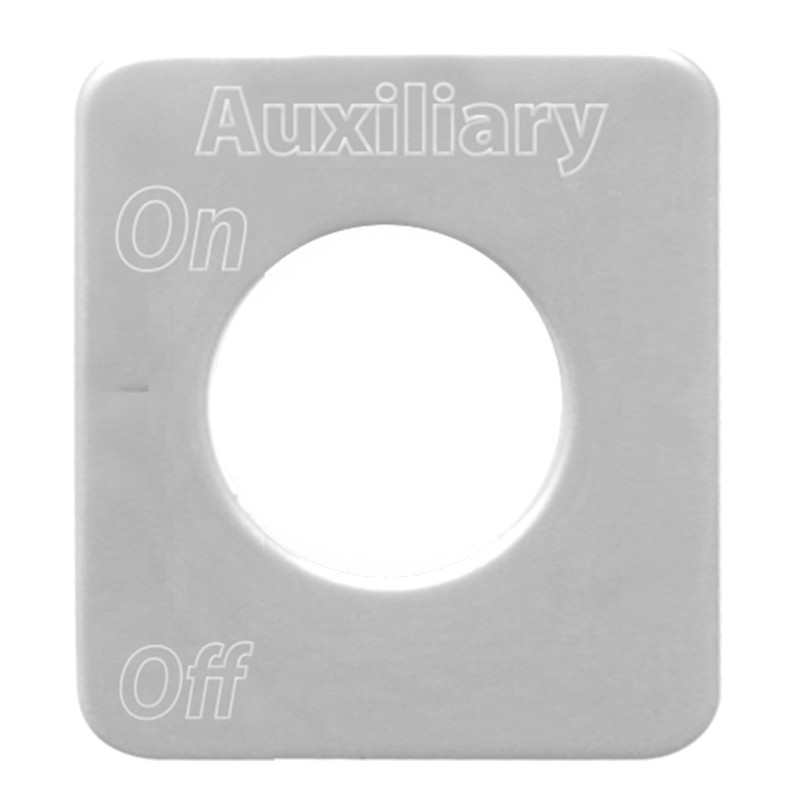 Kenworth Stainless Steel Auxiliary Switch Plate By Grand General