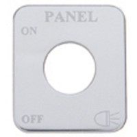 Freightliner Stainless Steel Panel Lights Switch Plate