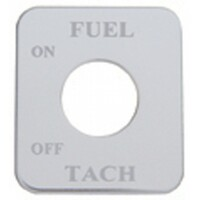 Freightliner Stainless Steel Fuel/Tach Switch Plate
