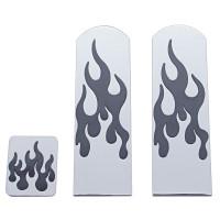 Peterbilt Aluminum Black Flame 3 Pedal Set