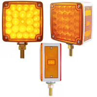 52 LED Square Double Face Turn Signal Light With Side LED