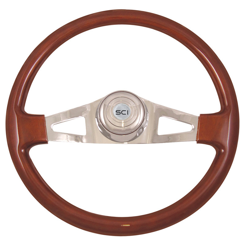 "Pinion Mahogany 18"" Steering Wheel"