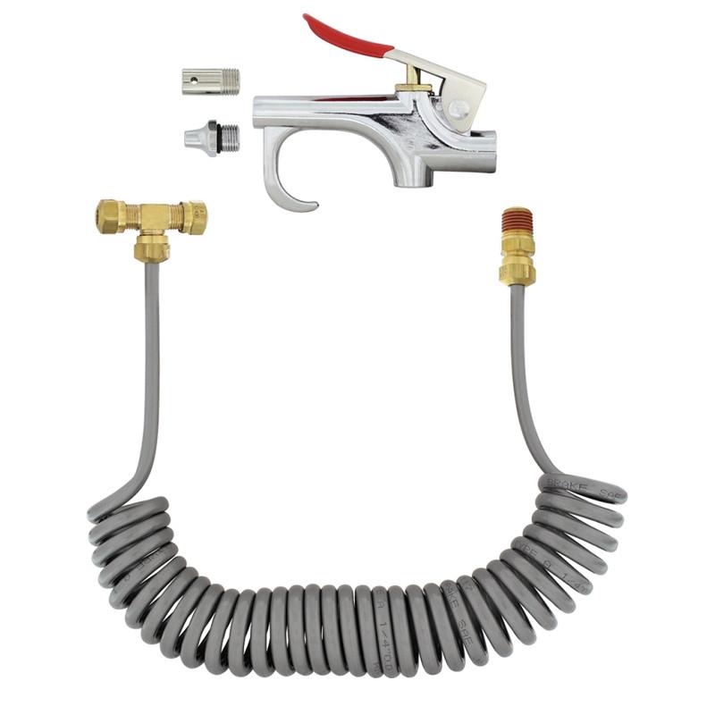 Chrome Air Blow Gun Deluxe Kit