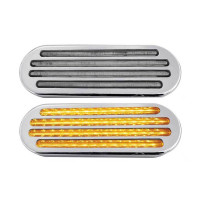 "6"" Oval Flatline SST And Marker LED Light 52 Diodes"
