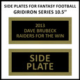 Side Plate for Fantasy Football Trophy Gridiron Series 10.5''
