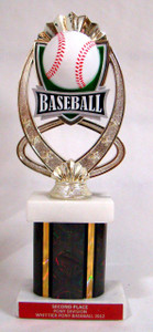 Shown With MF761 Baseball Figure, Black Column and Red Aluminum Engraving Plate with Gold Text