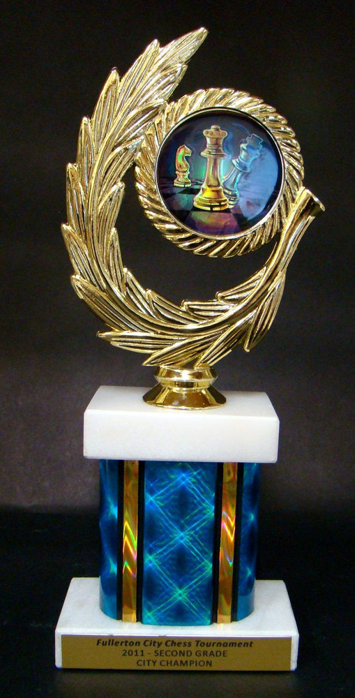 Chess Falcon Trophy Star Award ENGRAVED FREE in 5 Sizes