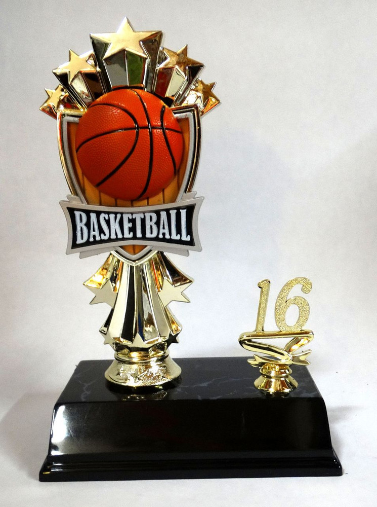 Basketball Trophy with Allstar Figure 8 1/2