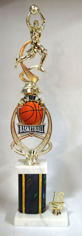 Basketball Trophy with MPI Riser MR703 20