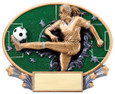 Explosion Ovals Soccer Female   - Free Engraving