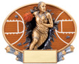 Explosion Ovals Basketball Female   - Free Engraving