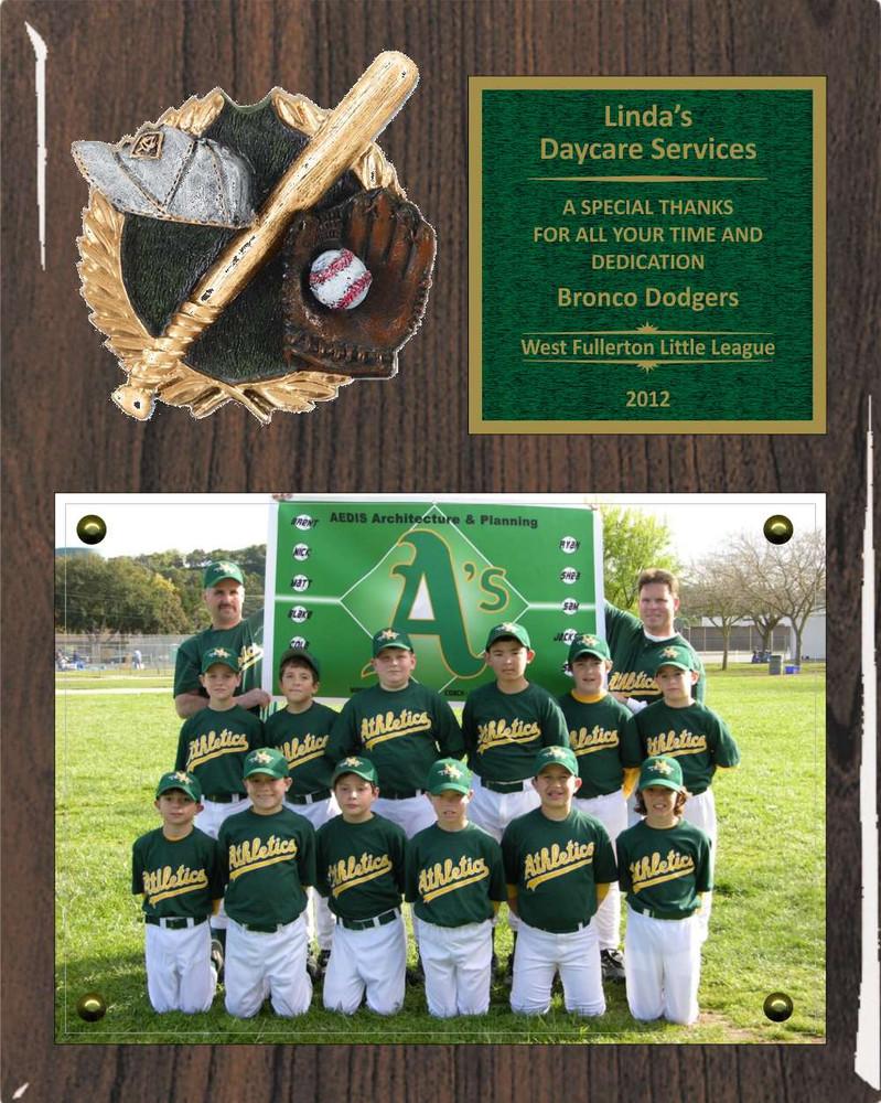 8 x 10 photo sponsor coach team mom appreciation plaque 3d pm