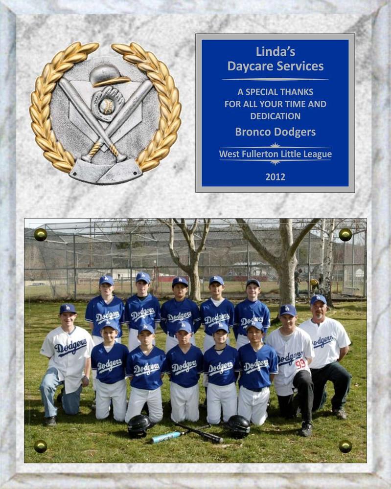 8 x 10 photo sponsor coach team mom appreciation plaque
