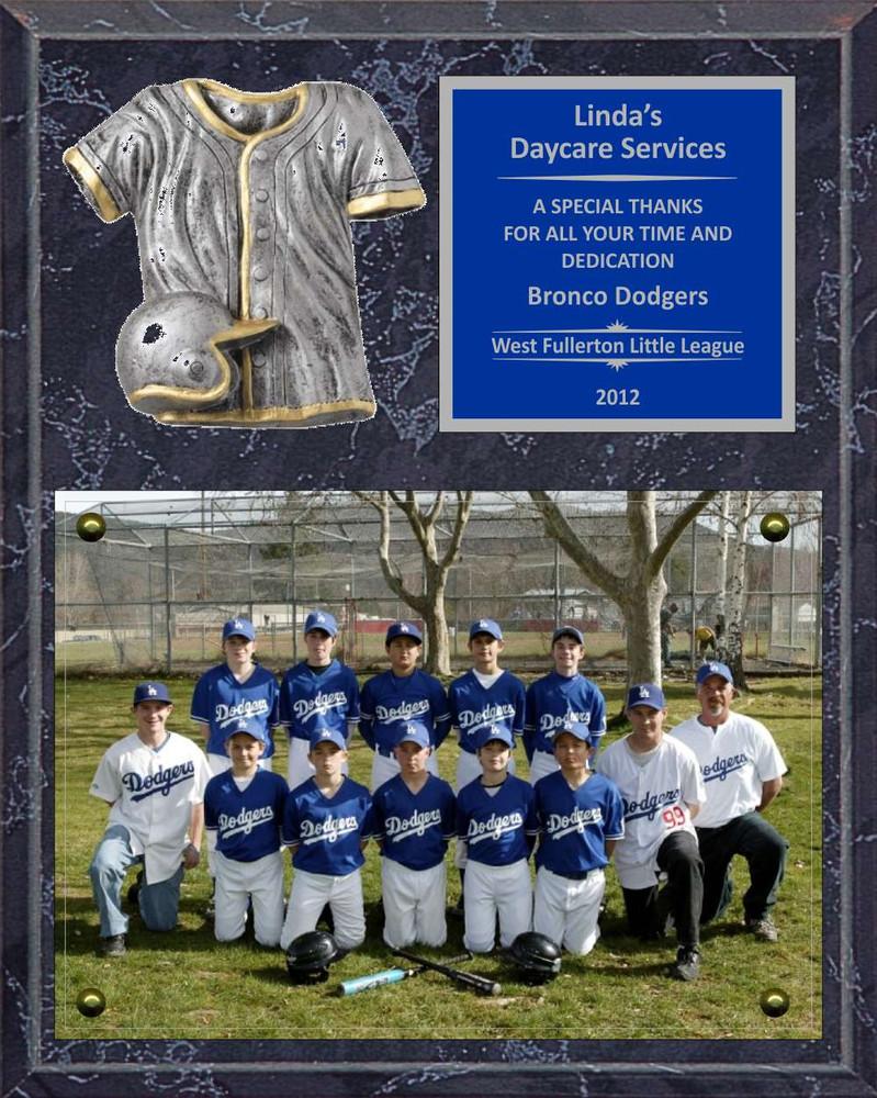 8 x 10 photo sponsor coach team mom appreciation plaque jersey
