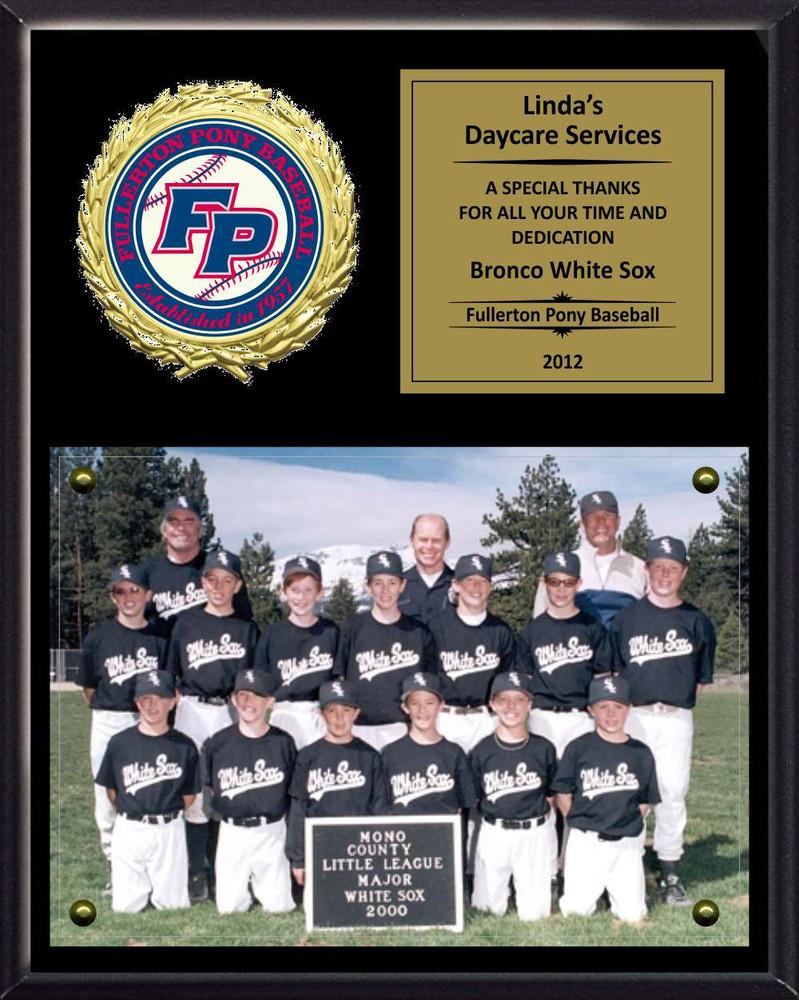 8 x 10 photo sponsor coach team mom appreciation plaque small