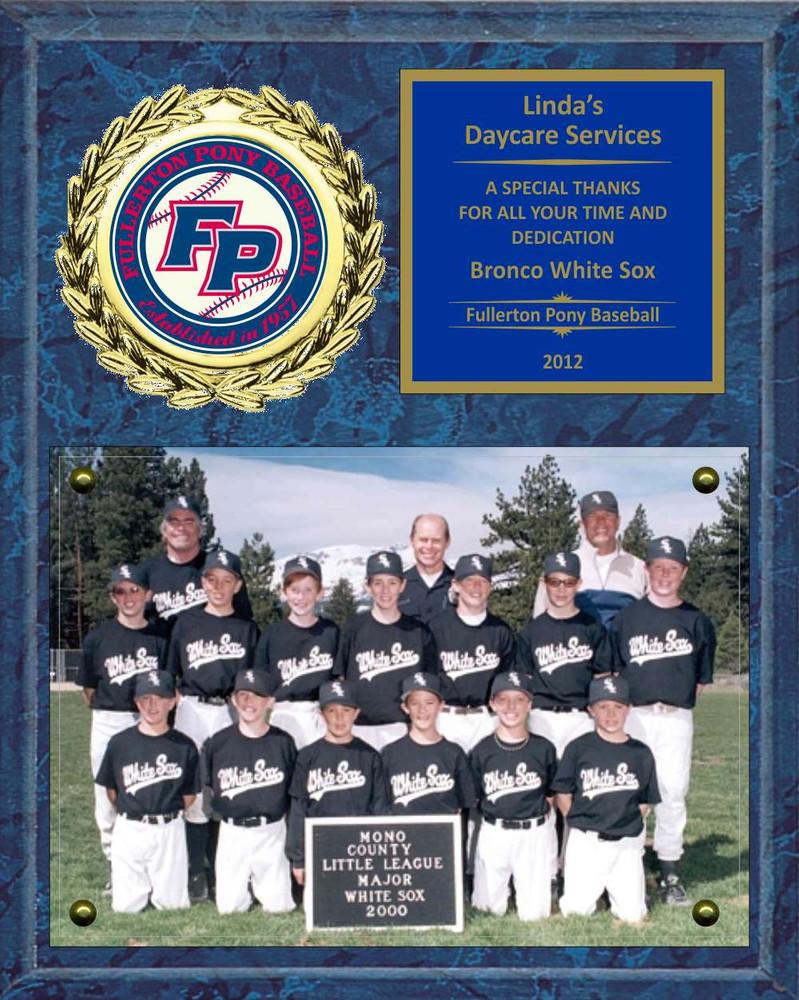 8 x 10 photo sponsor coach team mom appreciation plaque lg