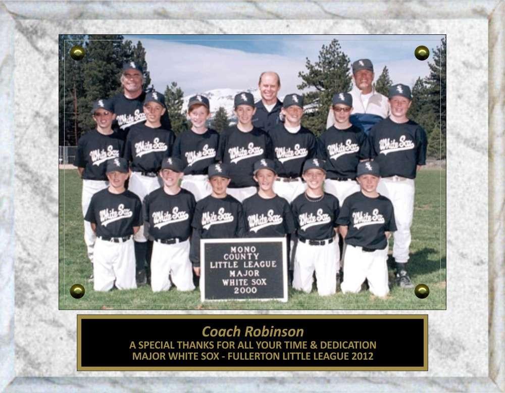 7 x 9 photo sponsor coach team mom appreciation plaque free