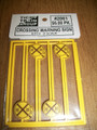 Tichy O Scale Crossing Warning Signs #2061  8 pack