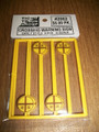 Tichy O Scale Early Crossing Warning Signs #2062  8 pack
