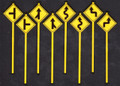 Tichy O Scale Road Path Warning Signs Group 2 #2073  8 pack