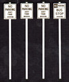 Tichy O Scale Assorted Warning Signs #2079  128 pack