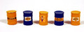 JL Innovative HO Scale Custom Oil Barrels Pre-painted and labeled Sunoco #558